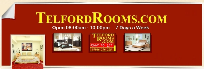 Click to see all our Rooms to Rent in Telford with Telford Rooms.com